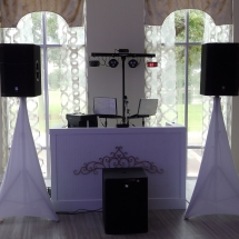 DJ Setup Crystal Ballroom St Augustine