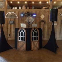 Belle Oake Barn DJ Setup